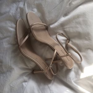 Jeffrey Campbell Nude Strappy Low Heel